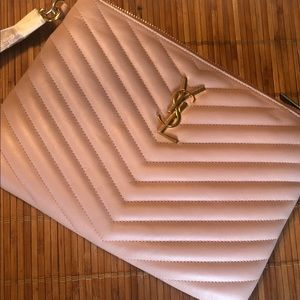 YSL Pouch Mono. Still in box, with strap wrapped.